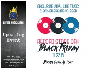 Black Friday @ Ignition Music Garage | Goshen | Indiana | United States