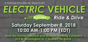 Goshen National Drive Electric Week Ride and Drive @ Goshen Brewing Company | Goshen | Indiana | United States