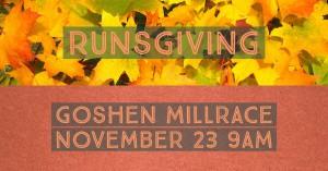 Goshen Millrace Dam Beer Runsgiving @ Goshen Brewing Company | Goshen | Indiana | United States