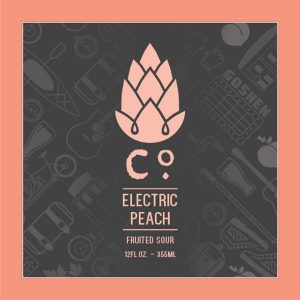 Can release: Electric Peach kettle sour @ Goshen Brewing Company | Goshen | Indiana | United States