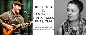 Jon Shain and Anna P.S. @ Goshen Brewing Company | Goshen | Indiana | United States