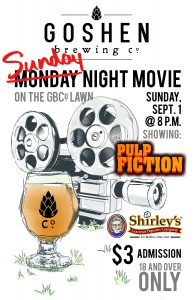 Bike-in movie: Pulp Fiction @ Goshen Brewing Company | Goshen | Indiana | United States