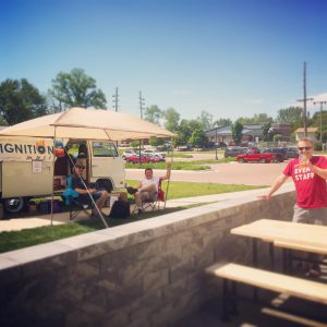 Ignition Vinyl on the patio @ Goshen Brewing Company | Goshen | Indiana | United States