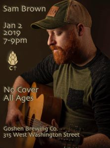 Sam Brown @ Goshen Brewing Company | Goshen | Indiana | United States
