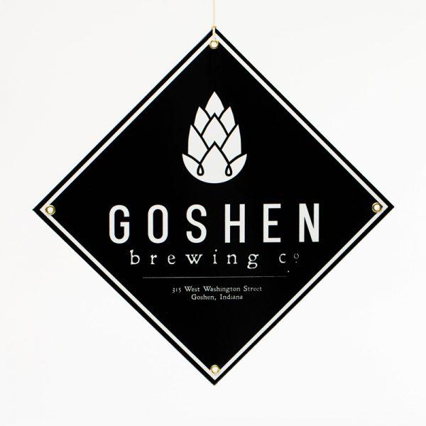 GBCo. logo porcelain and steel bar sign - black