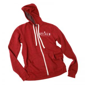 GBCo. zip-up hoodie - red