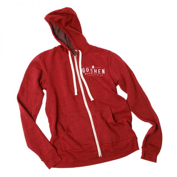 GBCo. zip-up hoodie - red