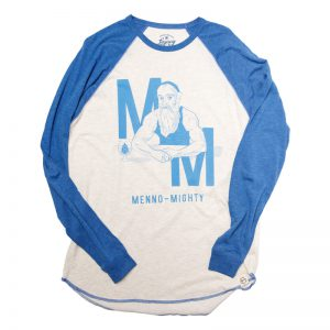 Menno-Mighty baseball shirt