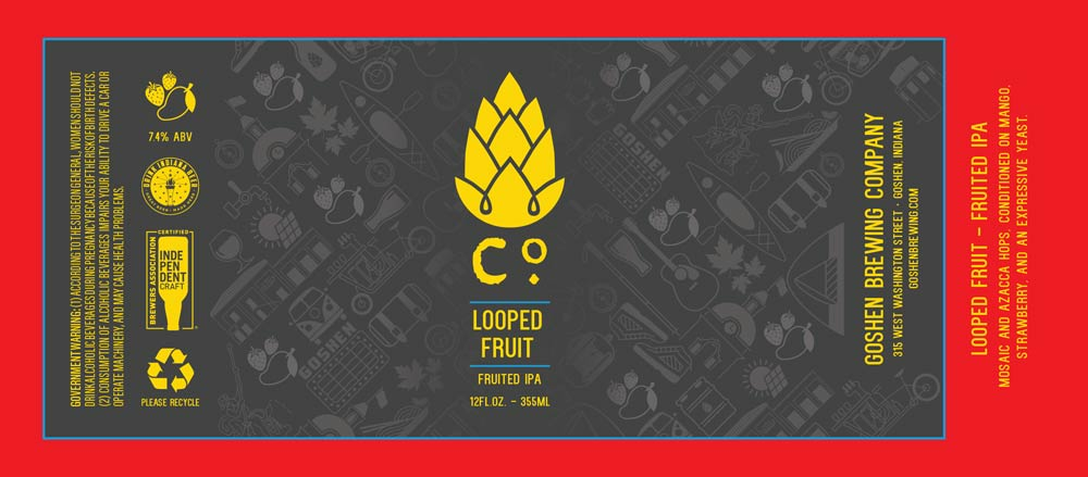 Looped Fruit   Fruited IPA   Goshen Brewing Company