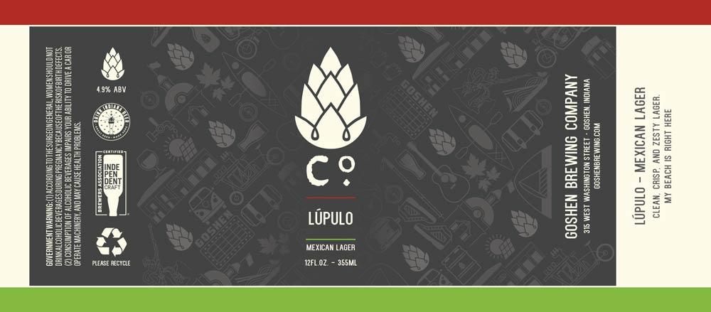 Lúpelo   Mexican Lager   Goshen Brewing Company