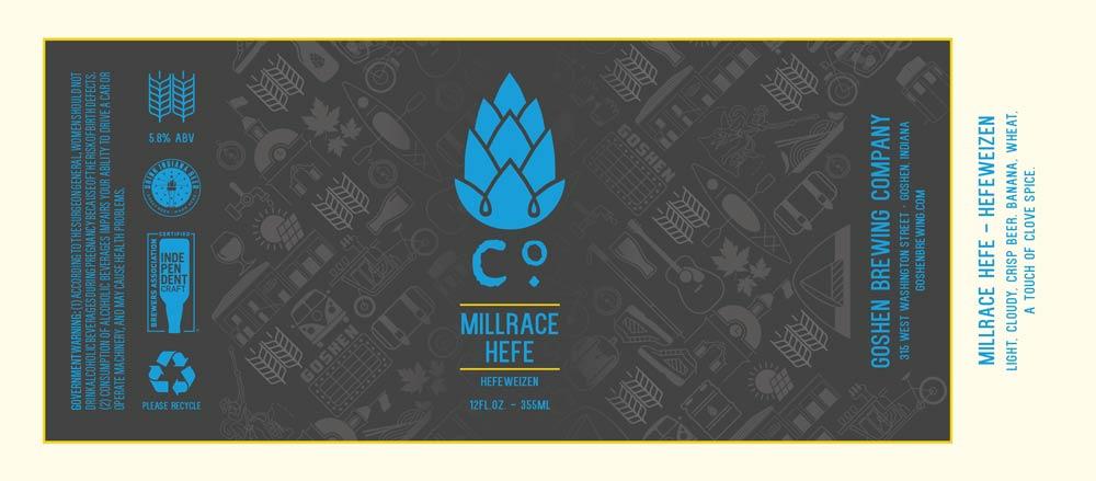 Millrace Hefe   Hefeweizen   Goshen Brewing Company